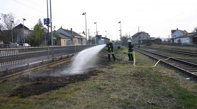 Brand einer Freifläche am 02.04.14
