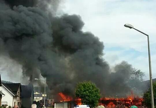 Brand landwirtschaftliches Anwesen in Ketschenbach am 22.07.2014
