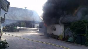 erste Brandbekämpfung in Ketschenbach