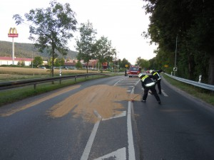 Getreide auf der Straße