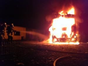 LKW Brand in der Wildenheider Straße (1)