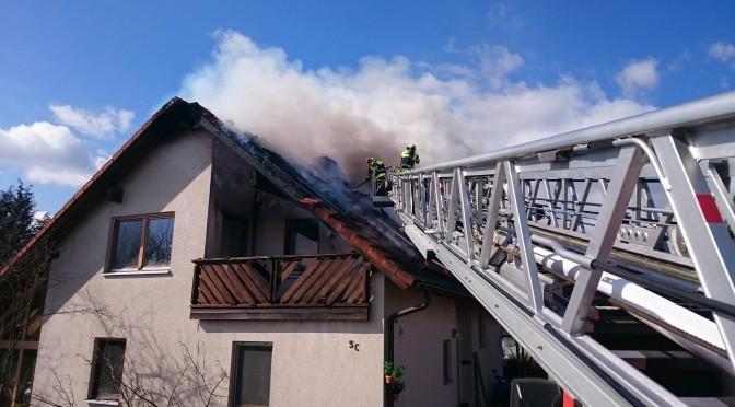 Dachstuhlbrand in Ketschenbach am 12.03.15