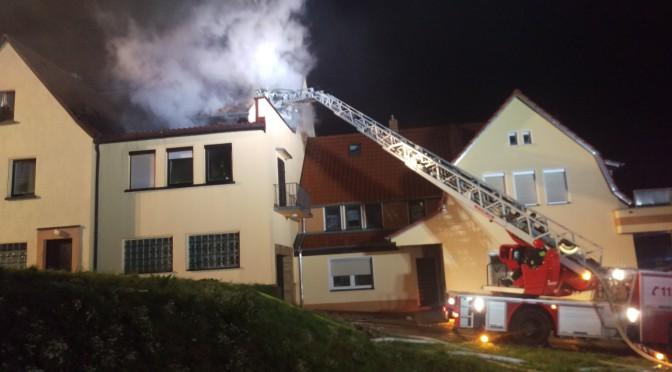 Wohnhausbrand Grub am Forst
