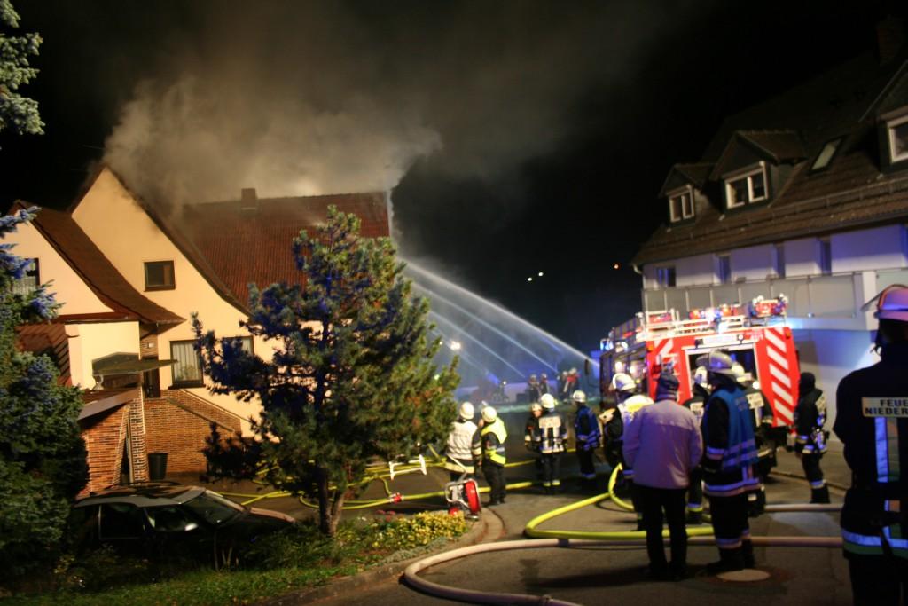 Wohnhausbrand Grub am Forst (1)