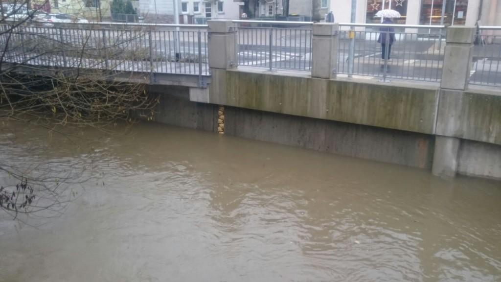 Pegelmessung im Bereich Marienbrücke