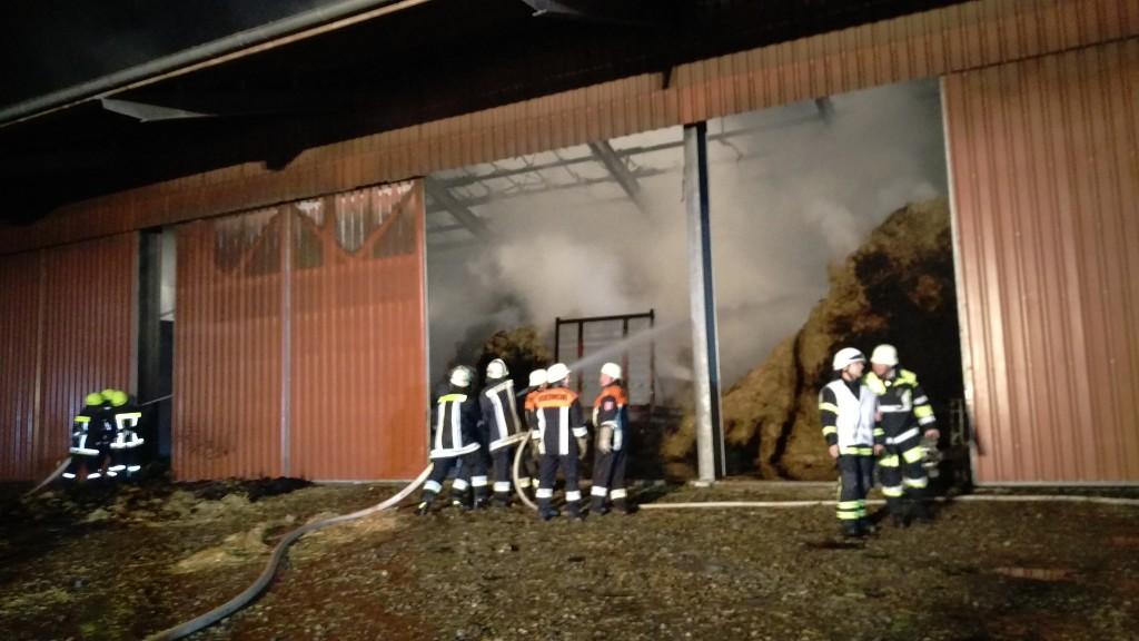 Brand einer Maschinenhalle Herbartsdorf (1)