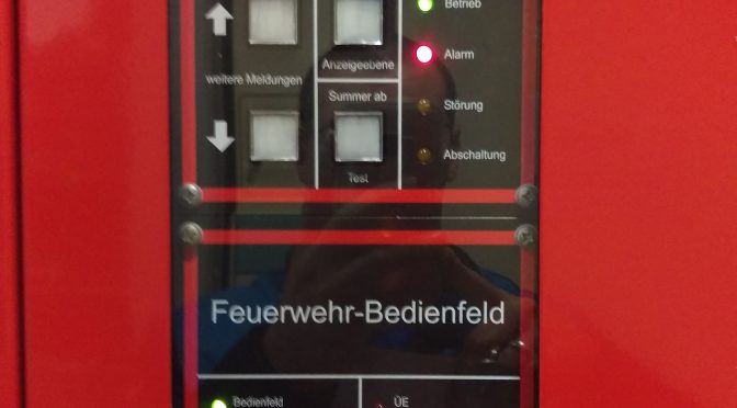 Alarm Brandmeldeanlage am 19.12.16