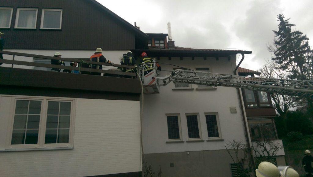 Gemeldeter Dachstuhlbrand Großheirath