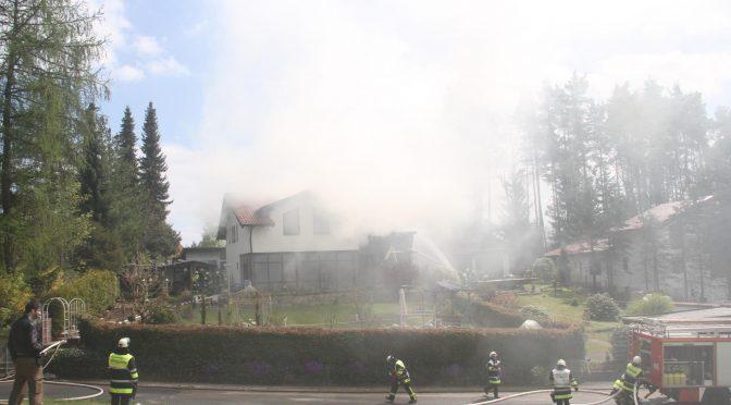 Dachstuhlbrand am 30.04.17