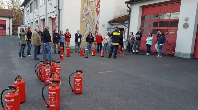 Feuerlöscherausbildung für die BRK-Bereitschaft Neustadt