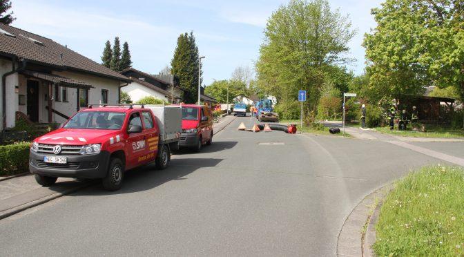 Gasaustritt im Bereich der Künßbergstraße