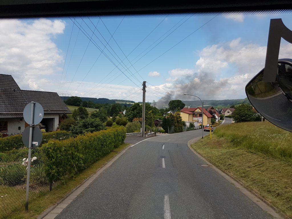 Brand mehrerer Scheunen in Effelder 16.06.17