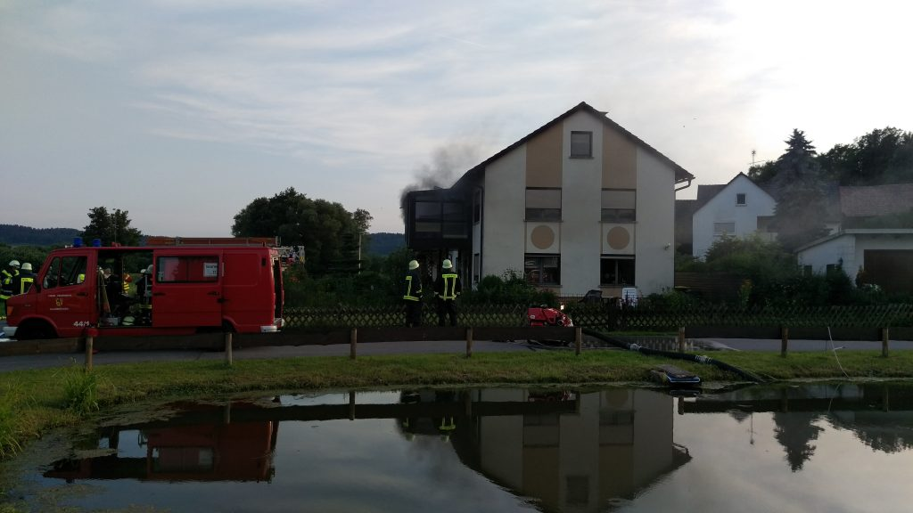 Brand Wohnhaus Haarbrücken