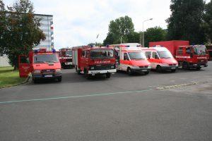 Der Feuerwehrhof ist voll gestellt