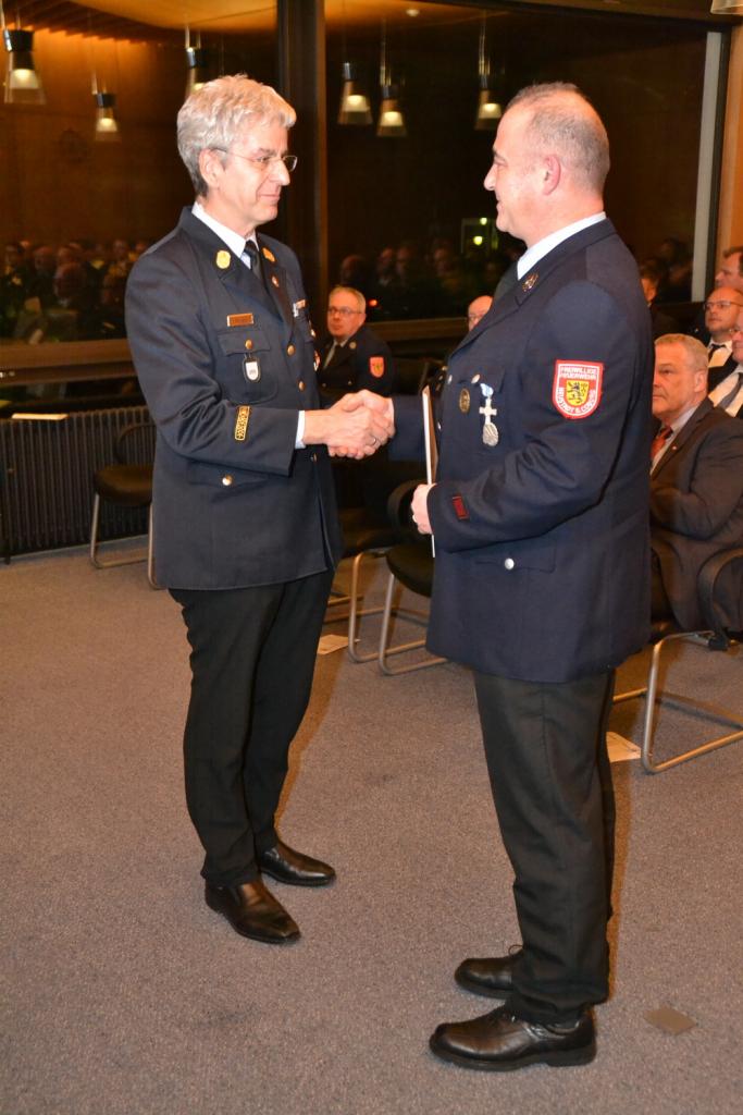 Ehrung Thomas Bauer 2017 für 25 Jahre Feuerwehrdienst